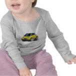 Coche amarillo elegante camiseta