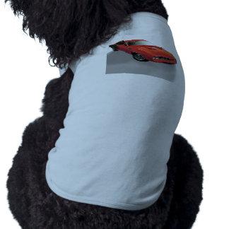 Coche americano rojo del músculo playera sin mangas para perro