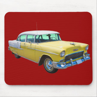 Coche antiguo 1955 del Bel Air de Chevrolet Tapetes De Ratones