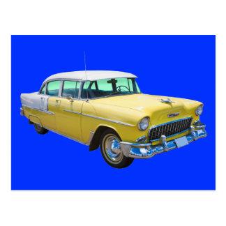Coche antiguo 1955 del Bel Air de Chevrolet Tarjeta Postal