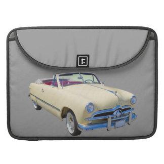 Coche antiguo convertible de lujo de encargo 1949 fundas para macbook pro