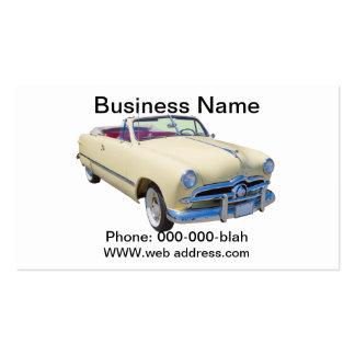 Coche antiguo convertible de lujo de encargo 1949 tarjetas de visita
