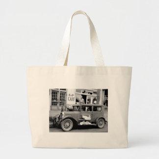 Coche antiguo, los años 30 bolsa de tela grande