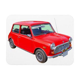 Coche antiguo rojo de Mini Cooper Imanes