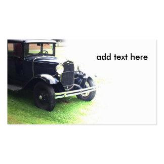 coche antiguo viejo tarjetas de visita