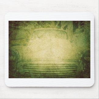 Coche asombroso apenado verde soñador retro del mouse pad