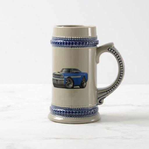 Coche Azul-Blanco 1970 de Plymouth GTX Taza De Café