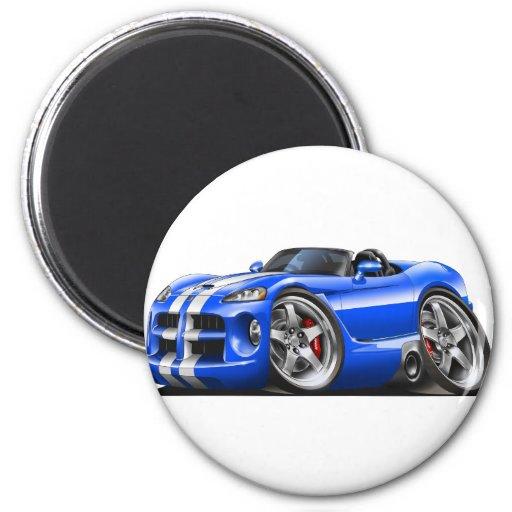 Coche Azul-Blanco del automóvil descubierto de la  Imán Para Frigorífico