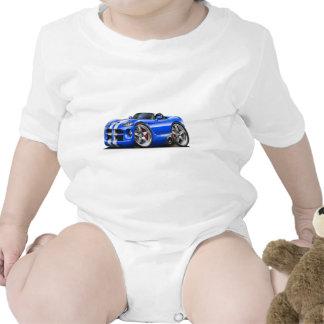 Coche Azul-Blanco del automóvil descubierto de la Trajes De Bebé