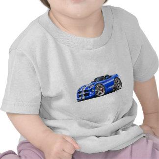 Coche Azul-Blanco del automóvil descubierto de la Camisetas