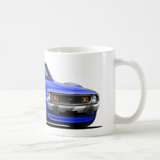 Coche azul blanco rojo 1971-72 de la jabalina tazas de café