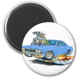 Coche azul claro 1966 de Chevelle Imán Redondo 5 Cm