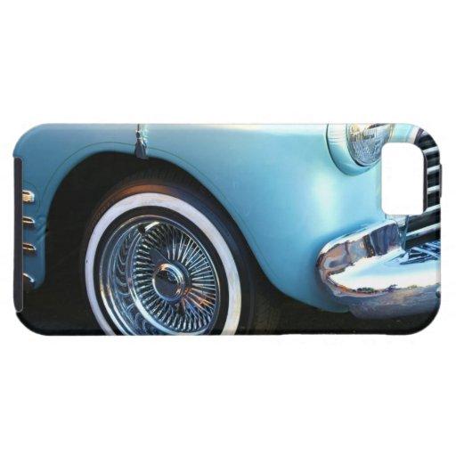 Coche azul clásico iPhone 5 Case-Mate fundas