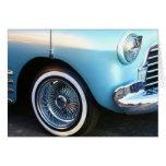 Coche azul clásico Notecard Tarjetón