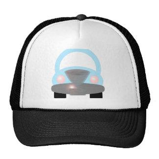 Coche azul gorra