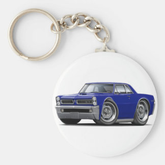 Coche azul marino de 1965 GTO Llaveros Personalizados
