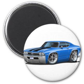 Coche Azul-Negro 1968 de Chevelle Imán Redondo 5 Cm