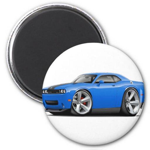 Coche Azul-Negro del desafiador SRT8 Imanes De Nevera