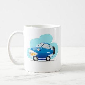 Coche azul taza
