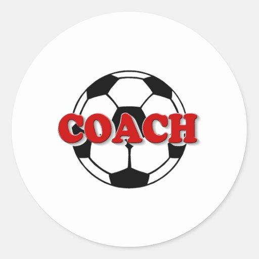 Coche (balón de fútbol) pegatina redonda