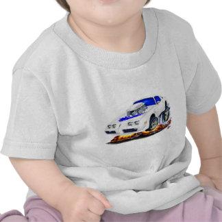 Coche Blanco-Azul 1979-81 del transporte Camisetas