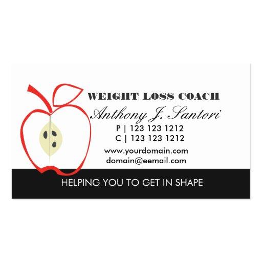 Coche blanco y negro clásico de la pérdida de peso tarjetas de visita