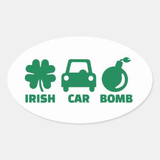 Coche bomba irlandés calcomania de óval personalizadas