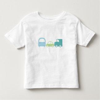 Coche camión del autobús de la camiseta del niño