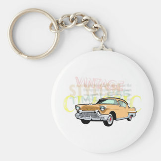 Coche clásico, Bel Air viejo de Chevrolet en Llavero Redondo Tipo Pin