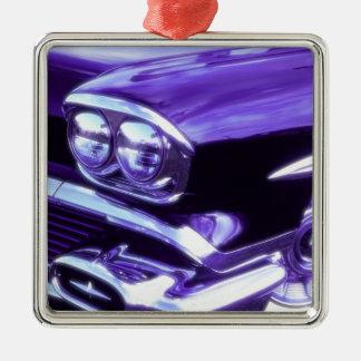 Coche clásico: Chevrolet 1958 Adorno Cuadrado Plateado