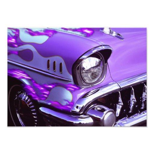 Coche clásico: Chevrolet con la capilla llameante Fotografía