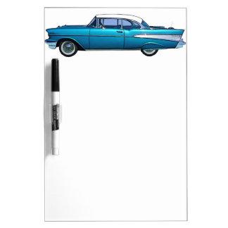 Coche clásico Chevy 1957 BelAire Tableros Blancos