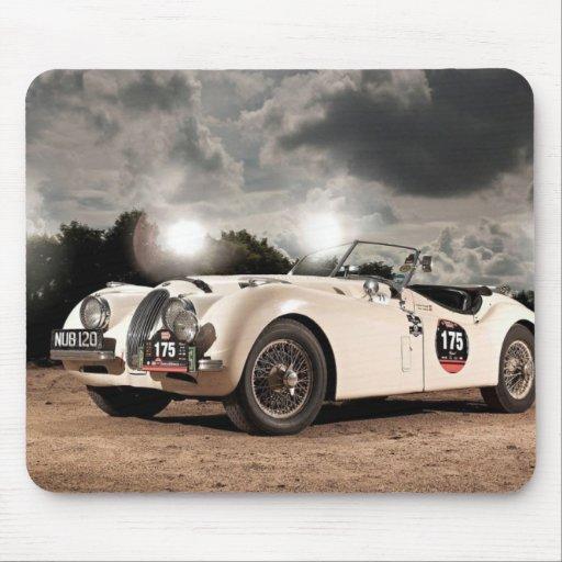 Coche clásico de Jaguar del vintage Tapete De Ratón