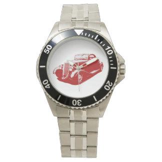 Coche clásico del coche de carreras relojes de pulsera