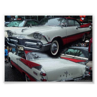 Coche clásico del vintage de Chrysler Póster