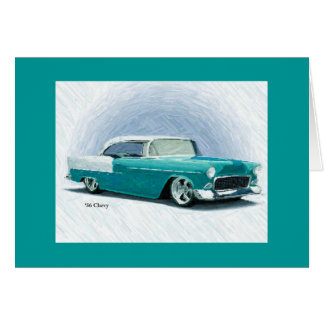 Coche clásico del vintage - tarjeta 1956 del Bel A