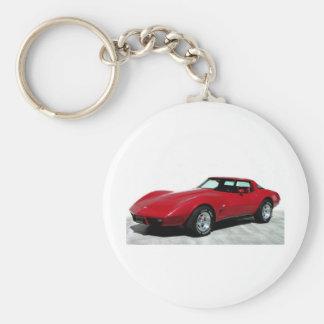Coche clásico rojo 1979 llavero personalizado