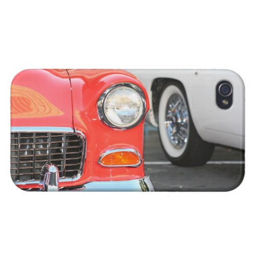 Coche clásico rojo iPhone 4/4S carcasa