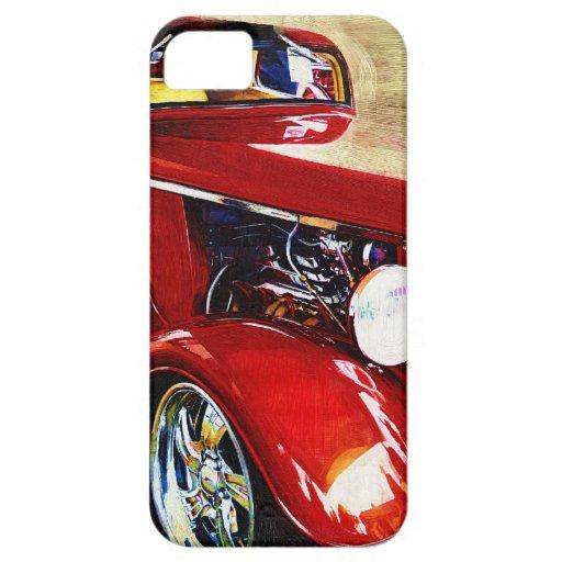Coche clásico rojo Iphone 5 para los hombres iPhone 5 Carcasas