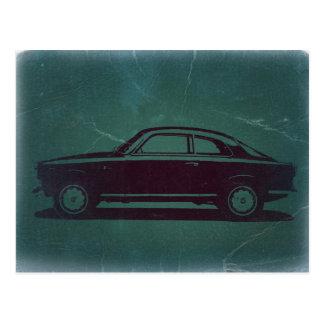Coche clásico tarjeta postal