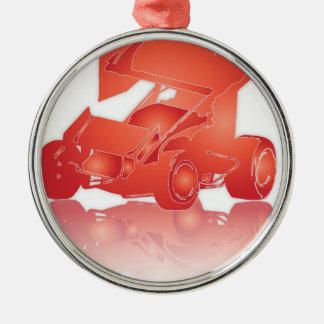 Coche con alas reflexión anaranjada de Sprint Ornamentos De Navidad