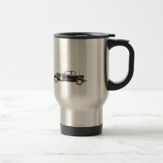 Coche con clase viejo retro del vintage elegante p taza de viaje de acero inoxidable