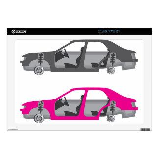 Coche con las ruedas de puertas del cuerpo auto skins para 43,2cm portátil
