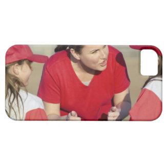 Coche con los jugadores de la liga pequeña funda para iPhone SE/5/5s