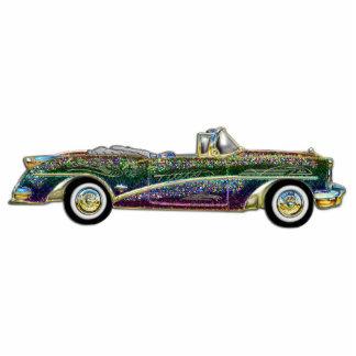 Coche convertible multicolor clásico escultura fotográfica