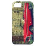 Coche convertible rojo del colector céntrico iPhone 5 carcasa