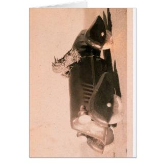 Coche córneo del sapo tarjeta de felicitación