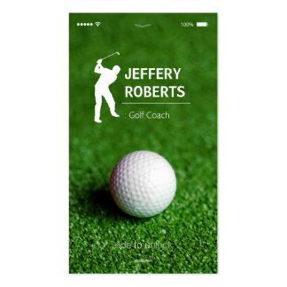 Coche creativo del golf del golfista tarjetas de visita