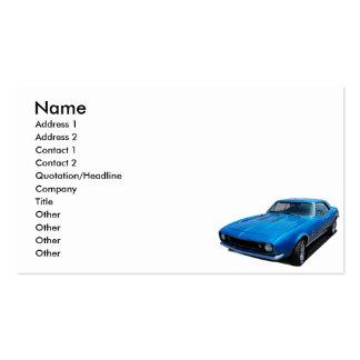 coche de 1967 obras clásicas tarjetas de visita