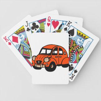 coche de 2 del cv franceses del vintage barajas de cartas